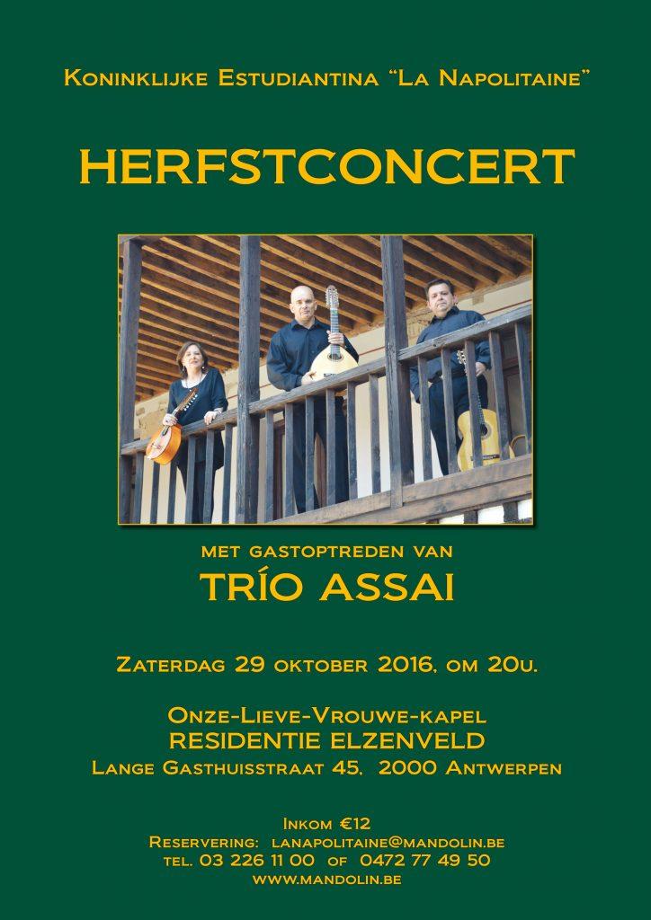 Herfstconcert 2016 met Trio Assai, Elzenveld